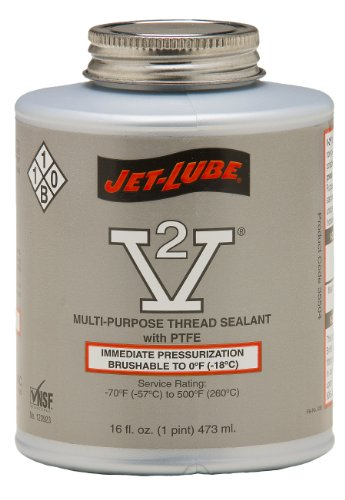 Jet-Lube V-2 Multipurpose Pipe Thread Sealant with PTFE, ...