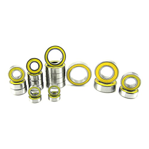 (Traxxas Slash 4x4 VXL ABEC 3 Precision Ball Bearing Kit YE (21) Rubber Seals)