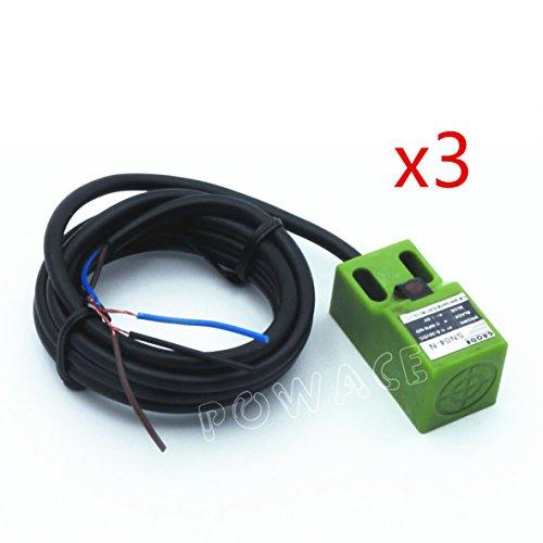 - 3Pcs SN04-N DC NPN Approach Sensor Inductive Proximity Switch Sensor Switch 4mm 3-Wire 6-36V/DC