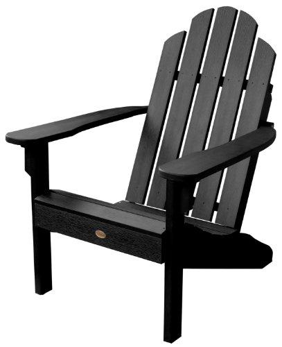 2 Adirondack Dining Chairs - Highwood Classic Westport Adirondack Chair, Black
