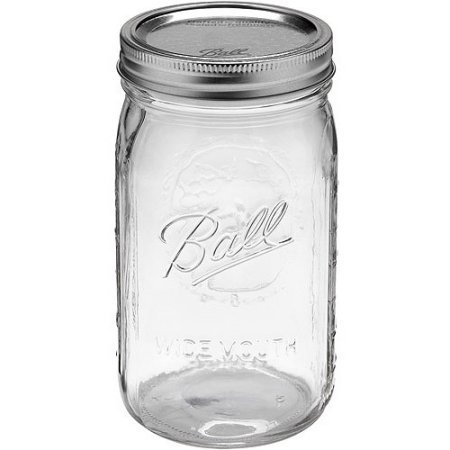 Ball Wide Mouth Quart Jars with Lids and Bands (4) by Ball