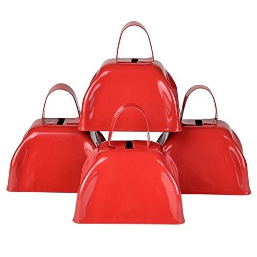 3'' Metal Cowbell (3 dozen) - Red by Rhode Island Novelty (Image #4)