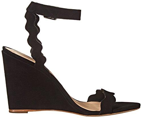 Loeffler Randall Women's Piper Wedge Sandal Black Nubuck cheap sale ebay FUTy1a6ma