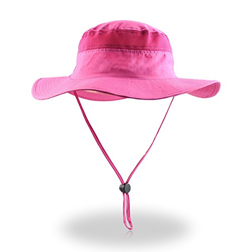 Qhome Unisex Outdoor Lightweight Breathable Waterproof Bucket Wide Brim Hat - UPF 50+ Sun Protection Sun Hats Shade]()