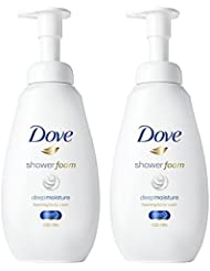 Dove Shower Foam, Deep Moisture, 13.5 oz, Twin Pack
