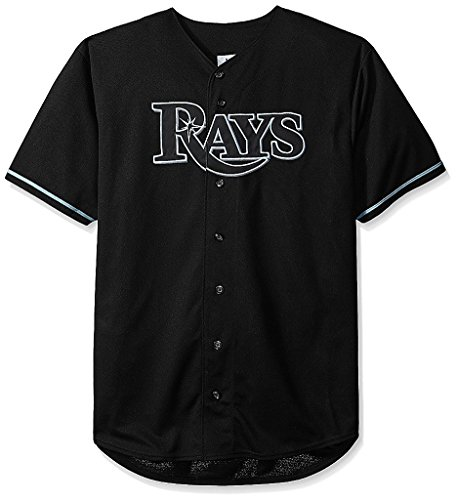 (VF Tampa Bay Rays MLB Mens Majestic Black Fashion Jersey Big Sizes (4XL))