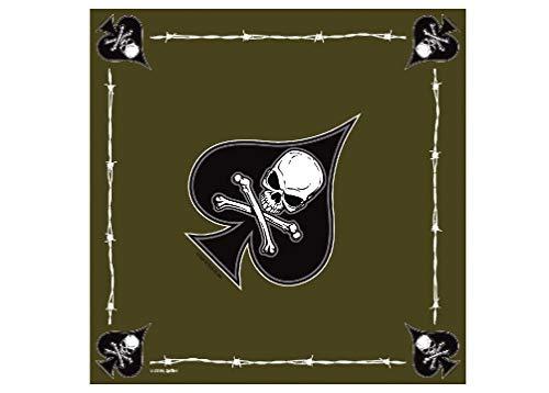 Us Army Vietnam Veteran Military Olive Green Drab Death Spade Bandana 22
