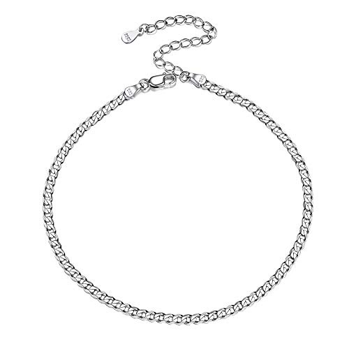 ChicSilver 실버 925 喜平 체인 장식 여성 알레르기 22cm + 5cm 스 터 폭 2.8 mm 액세서리 / ChicSilver Silver 925 Kihei Chain Anklet Ladies Allergy Compatible 22cm+5cm Adder Width 2.8mm Accessories