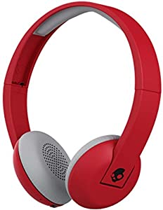 com skullcandy uproar bluetooth wireless on ear headphones skullcandy uproar bluetooth wireless on ear headphones built in mic and remote ill famed red