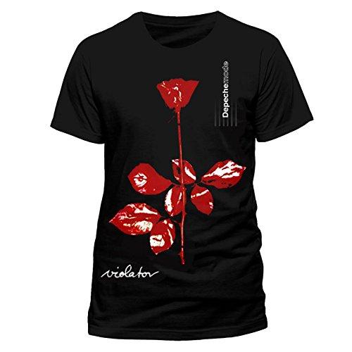 Depeche Mode Violator Album Cover Rock Official Tee T-Shirt Mens Unisex (X-Large) (Depeche Mode Music For The Masses Shirt)
