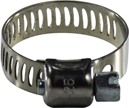 5//16 Band Stainless Steel Midland 325-020 Series 325 Stainless Steel Band Miniature Clamp and Housing with Carbon Steel Screw 7//8-1-3//4 Diameter Range #20 Size 5//16 Band 1//4 Screw 7//8-1-3//4 Diameter Range Midland Metal 1//4 Screw
