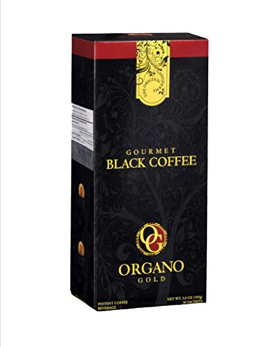 (Organo Gold Gourmet Black Ganoderma Coffee (1 Box of 30 Sachets) )