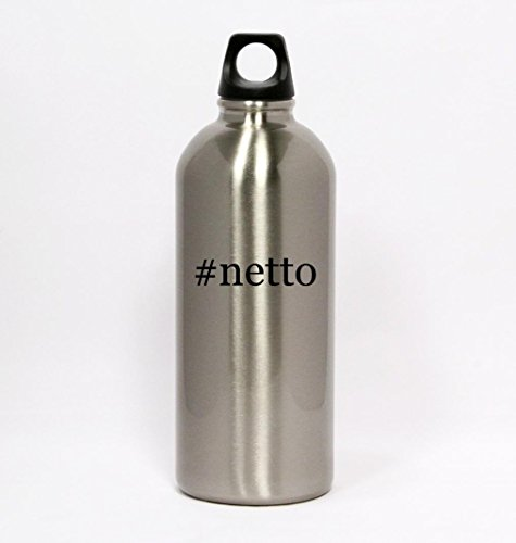 netto-hashtag-silver-water-bottle-small-mouth-20oz