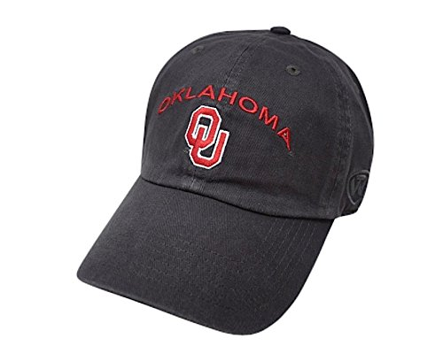 - Top of the World NCAA Men's Hat Relaxed Fit Charcoal Arch Adjustable, Oklahoma Sooners
