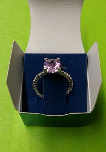 Bands Avon - Avon Best Wishes Ring with Rhinestone Band Medium Pink - Love Size 8 1/4
