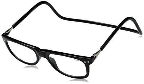 Clic Magnetic Eyeglasses Ashbury Reading Glasses in Black ; - Clicks Eyeglasses