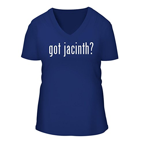 Coudray Jacinthe Rose (got jacinth? - A Nice Women's Short Sleeve V-Neck T-Shirt Shirt, Blue, Large)