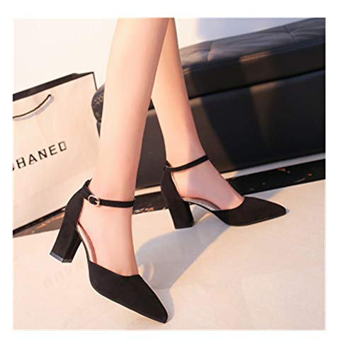 LXLDH high Heels Pointed Sandals Sexy high Heels Female Summer Shoes Female Sandals(Black,36)