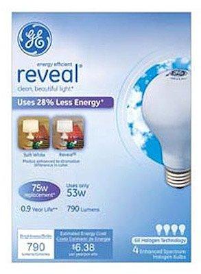 GE Soft White 53 Watt Reveal A Line Halogen Bulb 4 (Reveal Halogen Bulb)