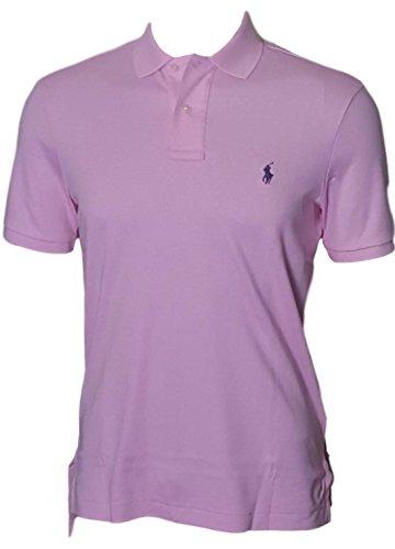RALPH LAUREN Polo Men Medium Fit Interlock Polo Shirt (S, Pink)