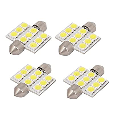 Amazon.com: eDealMax 4 PC 36mm 5050 SMD Blanca Adorno de la bóveda Mapa Luz: Automotive
