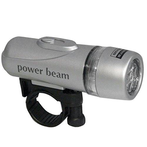 Powerline Lampen-Set mit 5+5 LED - Taschenlampe inkl. praktischer Befestigung und einer Rückleuchte - Vielseitig einsetzbar - Praktisches Zubehör