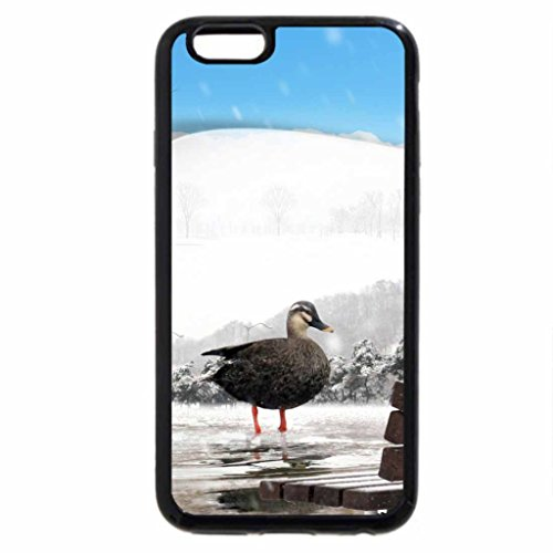 iPhone 6S Case, iPhone 6 Case (Black & White) - Cold Day on the Pond