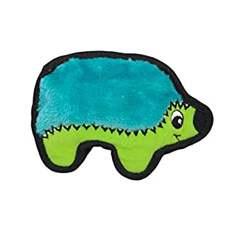 Invincibles Minis Stuffingless Durable Tough Plush Dog Squeaky Toy by Outward Hound, 1 Squeaker, Hedgehog