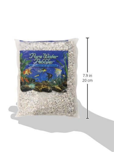Image of Pure Water Pebbles Aquarium Gravel, 2-Pound, Snow White