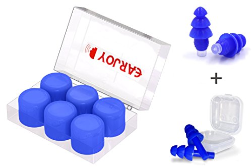 Noise Cancelling Filter (Hearing Protection Earplugs By EarJoy - Earplugs For Sleeping/Swimming ,High Fidelity Ear plugs , Noise reduction , for Shooting, Travel, and Concerts. Reusable Comfortable Silicone .)