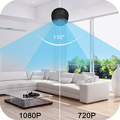 WiFi Mini Camera, 1080P HD Wireless Hidden Cameras, Nanny Cam with Night Vision and Motion Detection for Indoor Outdoor Office Home Car