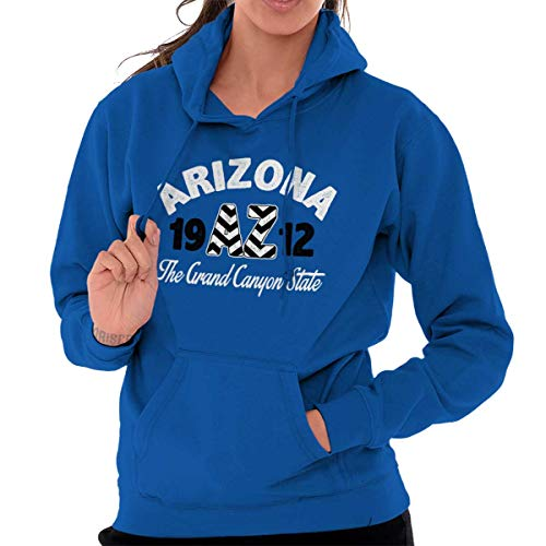 Diamondback Hooded Blue Sweatshirt - Arizona State - Chevron Printed Hooded Sweatshirt - Royal