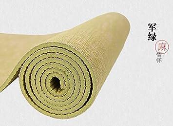 Amazon.com: BMWY Yoga Mat, Natural Jute, Thick Yoga Mat Non ...