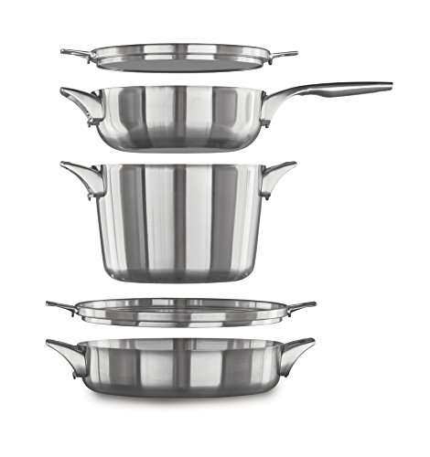 - Calphalon Premier Space Saving Stainless Steel Supper Club Set