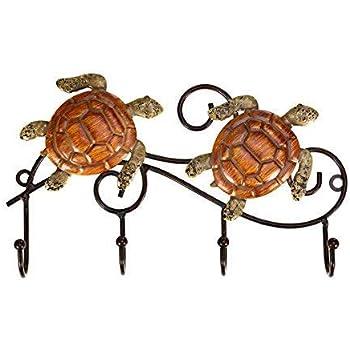 Amazon.com: tooarts rústico soporte de llaves de pared rack ...