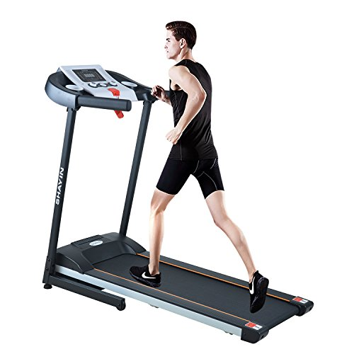 Shayin Treadmill Home Fitness Training Equipment Electric Running Jogging Machine Folding Treadmill(US Stock) (Black1)