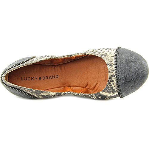 Lucky Brand Mujeres Esste Flat, Avorlo / Black Randonne, Avorlo / Black Randonne