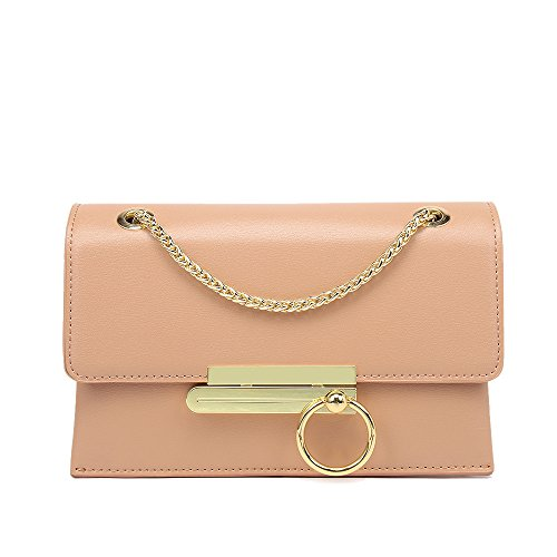 Amarillo Bolso Señoras Simple Anillo Pink Cadena De Hombro Bolso GWQGZ Moda La qOngx6v