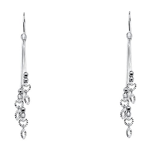 14k White Gold Dangle Earrings (70 x