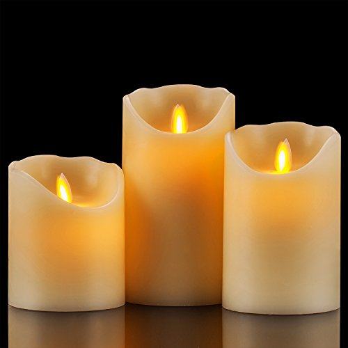 Flameless Candles 4 5 6 Set Of 3 Ivory Dripless Real