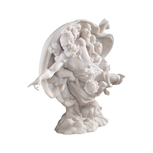 Design Toscano The Creation of Adam Bonded Marble God (Marble God Statue)