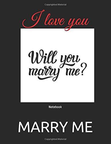 I love you Notebook [MARRY ME] (Tapa Blanda)
