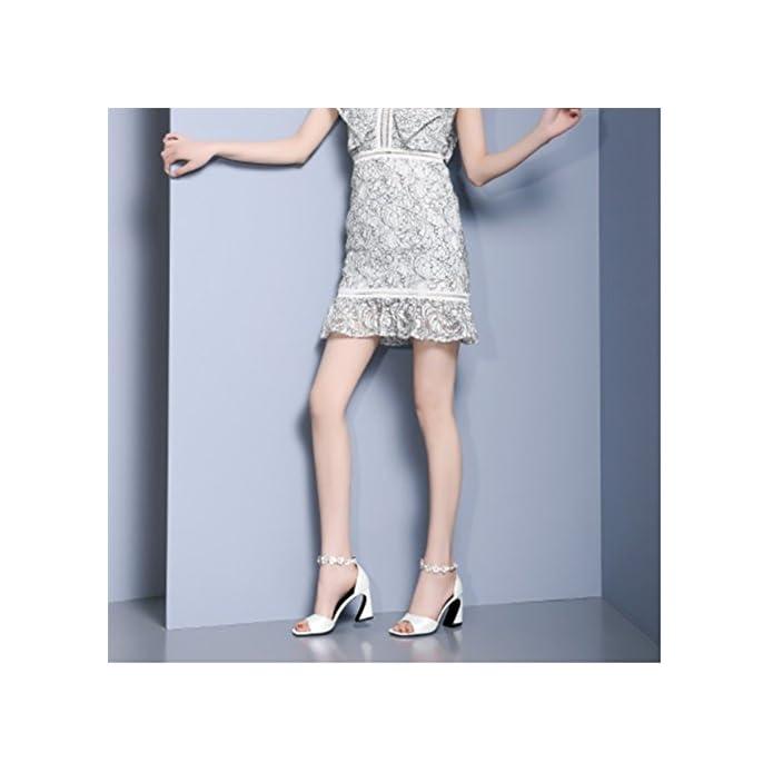 Zhwei Scarpe Col Tacco N61757 Ms Primavera Ed Estate Fiori Sandali Con Alto altezza Del 8 Cm