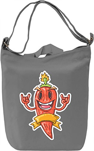 Pepper Borsa Giornaliera Canvas Canvas Day Bag| 100% Premium Cotton Canvas| DTG Printing|