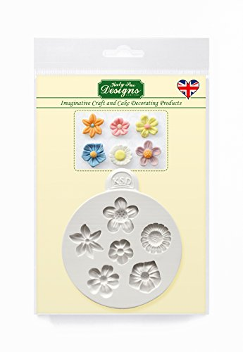 (Katy Sue Designs Flowers Mold for Cake Decorating, Cupcakes, Sugarcraft, Candies, Clay, Crafts and Card Making, Food Safe)