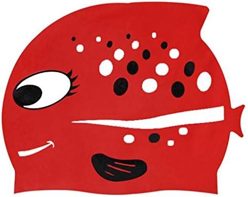 Cuffia Piscina Bambini Topgrowth Cuffie Nuoto Silicone Cartone Animato  Pesce Cuffia da Nuoto Junior Ragazzi Ragazze Elastica Taglia Unica (C) 9010772d97ea