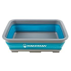 Wakeman Outdoors Collapsible Multiuse Wash Bin- Portable Wash Basin