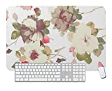 Gaming Mouse Pad Ink Painting Flower for Desktop and Laptop 1 Pack 800x300x3mm/31.5x11.7x1.1 in
