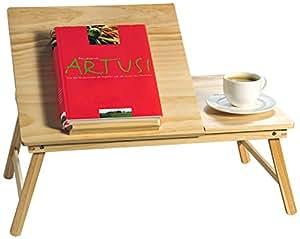 Kesper 69018 - Bandeja con patas y atril para lectura, madera de pino