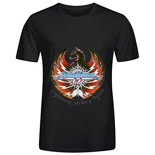 Dokken Lightning Strikes Again 80s Men O Neck Big Tall T Shirt Black
